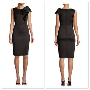 Eliza J Ruffle Sheath Dress